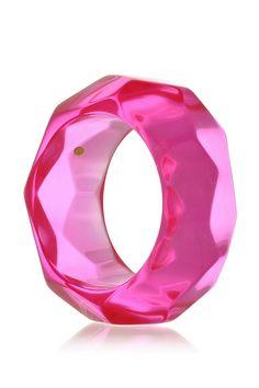 KENNETH JAY LANE DISCO Pink Resin Bangle