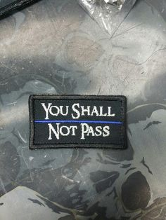 """Hold the line between chaos and order, """"You Shall Not Pass"""" (Thin Blue Line edition) New to our NEW store! Www.zombietacticalcord.com I lowered flat rate shipping to $2.69 and free shipping on orders over $20."""