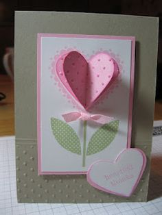 Stampin' Up sweetheart stamp set card with 3-d heart