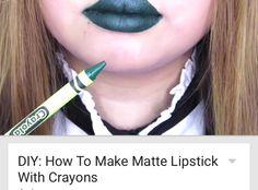 Matte lipstick using crayons!