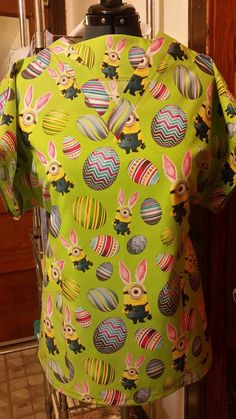 Check out this item in my Etsy shop https://www.etsy.com/listing/492096302/minions-easter-medical-scrubs-nurses