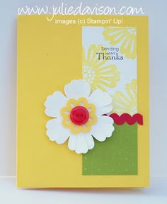 Julie's Stamping Spot -- Stampin' Up! Project Ideas Posted Daily: Mixed Bunch Ric Rac Thank You Card