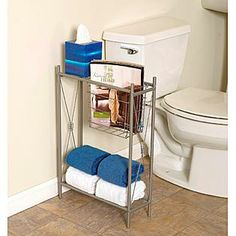 Zenith Products  Zenith Products ''Cross Style'' Magazine Rack with Shelves, Satin Nickel