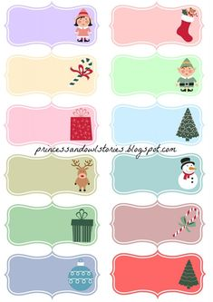 Etiquetas navideñas para regalos – Princess & Owl Stories Owl, Happy Planner, Sunday School, Kids Rugs, Christmas, Blog, Big Shot, Princess, Ideas