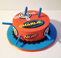 Nerf cake! By Kirsty Low www.cakeybake.co.uk