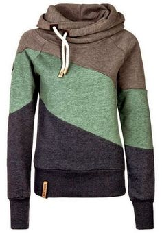 Color Block Long Sleeves Casual Hoodie | You can find this at => http://feedproxy.google.com/~r/amazingoutfits/~3/knJ6TnTvhaM/photo.php