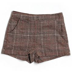 COMING SOON - Forever 21 Brown Plaid Shorts These super cute shorts are in like new condition! Forever 21 Shorts