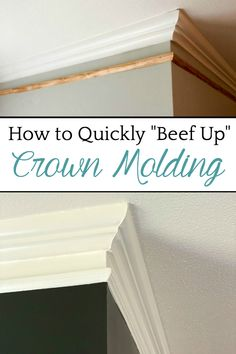 How to Quickly Beef Up Crown Molding and Baseboards | One easy trick to make thin crown molding and baseboards thicker and more stately for less than $1 per foot. #baseboards #molding