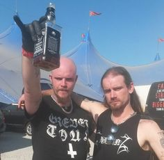 Niklas Kvarforth from Shining & Hoest from Taake