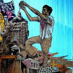 swoon street art Bowery NYC Guys on Walls, Part V: Esteban del Valle, Ramiro Davaro Comas, Swoon, James de la Vega, Paul Paddock, Tats Cru a...