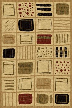 LA Rug 0115-13-8X11 Sequoia Collection Multi-Color