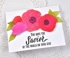 Introducing Peonies on Parade (My Favorite Things - Dawn McVery) Christian Cards, Scripture Cards, Paper Crafts, Diy Crafts, Get Well Cards, Vintage Roses, Card Tags, Paper Flowers, Peonies