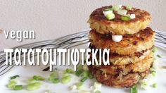 ↧ Πληροφορίες & Συνταγή ↧ Ξεροψημένα απ' έξω και μαλακά μέσα. Τριμμένες πατάτες με λίγα μπαχαρικά σε σχήμα μπιφτεκιού που κάνουν όχι μόνο ένα λαχταριστό κυρί... Greece Food, Tasty Dishes, Salmon Burgers, Baked Potato, Muffin, Appetizers, Vegetarian, Vegan, Chicken
