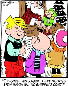 """Hank Ketcham's classic """"Dennis the Menace"""" chronicles the pranks of the mischievous title character. Funny Cartoons, Funny Jokes, Dennis The Menace Cartoon, Funny Cartoon Pictures, Clean Jokes, Funny Kids, Comic Strips, Cartoon Characters, Little Boys"""