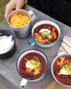 A simmering pot of chili will warm up any occasion; it's the quintessential recipe for stress-free entertaining. Set out the chili alongside bowls full of colorful toppings and crisp tortilla strips, and let your guests help themselves.
