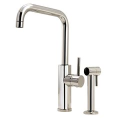 aquabrass Dual stream mode kitchen faucet with side spray: available in custom finishes Bar Faucets, Kitchen Faucets, Shower Fixtures, Home Spa, Plumbing Fixtures, Beautiful Kitchens, Polished Chrome, Sink, Master Chef