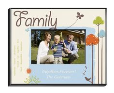 Personalized Natures Song Picture Frame - Available in 4 Designs