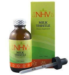 NHV Milk Thistle - Support for Liver Disease, Liver and Kidney Detox, Kidney Support and Cancer Support in Cats, Dogs and Small Pets -- More info could be found at the image url. (This is an affiliate link and I receive a commission for the sales) Liver Detox Supplements, Pet Supplements, Kidney Detox, Buy Milk, Nursing Supplies, Energy Boosters, Milk Thistle, Liver Disease, Natural Energy