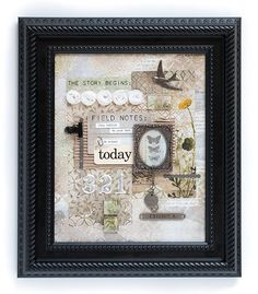 Collage Frames, Mixed Media Collage, Mixed Media Canvas, Collage Art, Collages, Scrapbook Expo, Scrapbooking Layouts, Heritage Scrapbooking, Altered Canvas