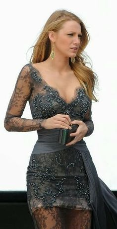 Fabulous Grey Lace Dress
