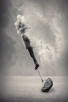 B & W surreal photography by Tommy Inberg. Via artpeople.net