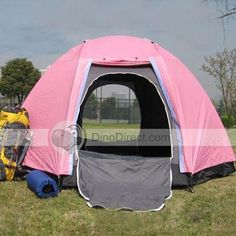 San Jian®  Double Layer Double Doors 6 Person Camping Tent
