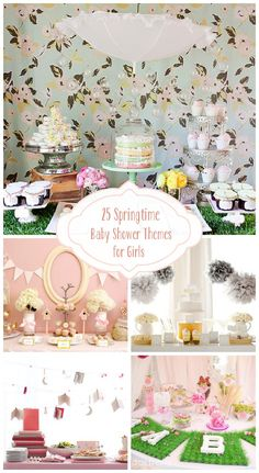 25 Springtime Baby Shower Themes for Girls !