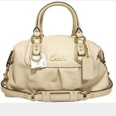 "Coach ""Ashley Satchel"" Style:F15445. Used once. Shoulder bag/Tote. Authentic Coach Bags Shoulder Bags"