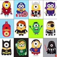 Superhero Minions! Love it! Despicable Me 2 was so adorable!
