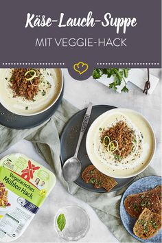 - [Display] When cheese-leek soup shows its creamy and vegetarian side … [In cooperation with Rügenwalder Mühle] Vegan Recipes Easy, Veggie Recipes, Brothy Soup Recipes, Vegan Hollandaise Sauce, Summer Soup Recipes, Go Veggie, Leek Soup, Finger Foods, Food Inspiration