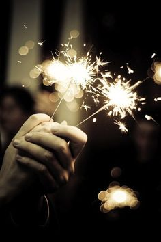 new years eve wedding // sparklers // lights // party New Years Eve Weddings, New Years Eve Party, Christmas And New Year, Bokeh, Belle Photo, Happy New Year, 4th Of July, Wedding Photography, Fireworks Photography