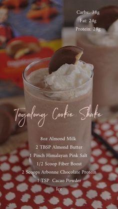 Arbonne tagalong cookie shake - New Ideas Arbonne Shake Recipes, Arbonne Protein Shakes, Protein Shake Recipes, Smoothie Recipes, Protein Smoothies, Nutribullet Recipes, Arbonne 30 Day Challenge, Arbonne 30 Day Detox, Arbonne Cleanse