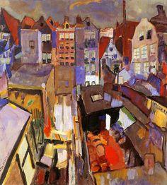 Houses in the Jordaan - Jan Sluyters