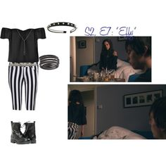 02x07 - Effy Stonem's Third outfit by breakfast-at-tiffanysss on Polyvore featuring Ally Fashion, Paolo Shoes, Tateossian, ASOS and Effy Jewelry Effy Stonem Style, Skins Uk, Effy Jewelry, Polyvore, Third, Asos, Outfits, Breakfast, Fashion
