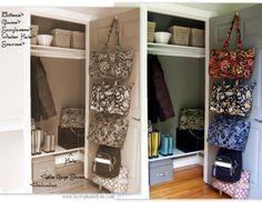 Ideas for Organizing Entry Closet