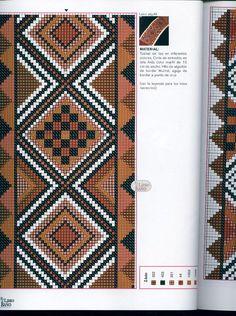 Mud cloth x-stitch Cross Stitch Geometric, Cross Stitch Borders, Modern Cross Stitch, Cross Stitching, Cross Stitch Embroidery, Cross Stitch Patterns, Beaded Bracelet Patterns, Bead Loom Patterns, Peyote Patterns