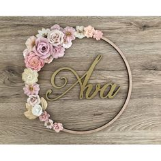 Do you want a romantic touch to your little girl& room? - Do you want a romantic touch to your little girl& room? We are proud to offer you a magnific - Paper Flower Wall, Flower Wall Decor, Little Girl Rooms, Little Girls, Miffy Lampe, Roman Clock, Baby Diy Projects, Metal Clock, Floral Hoops