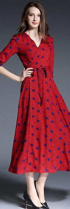 Deep v long dress graal classic
