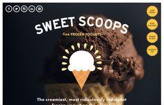 Sweet scoops website - Motto branding agency