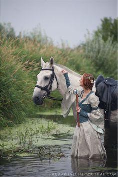 Elven Linen Dress by ~Angirias on deviantART