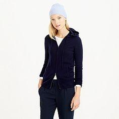 Collection cashmere zip-front hoodie jcrew.com