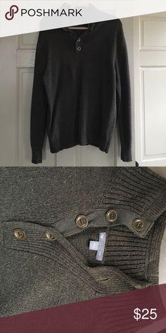 GAP Quarter Button Sweater EUC Olive Green quarter button sweater. Metal buttons. GAP Sweaters