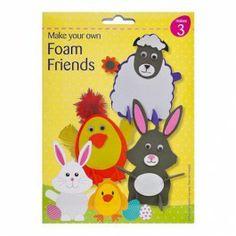 Make Your Own Easter Foam Friends - Easter Crafts - Easter Make Your Own, Make It Yourself, Easter Crafts, Tweety, Friends, Amigos, Boyfriends
