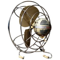 Machine Age Table Fan by Westinghouse, circa Antique Fans, Vintage Fans, Vintage Shops, Industrial Furniture, Cool Furniture, Westinghouse Electric, Old Fan, Vintage Appliances, Electric Fan