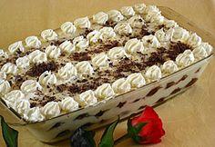 Habos-krémes piskóta No Bake Desserts, Dessert Recipes, Baking Desserts, My Recipes, Cooking Recipes, Recipies, Hungarian Recipes, Cakes And More, Cake Cookies