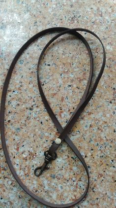 Leather lanyard by JollyMollys on Etsy