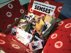 5 senses gift idea for valentine's day, for boyfriend, for him, for husband, DIY