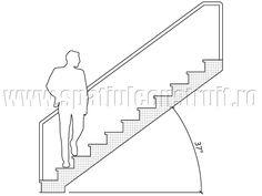 Staircases: general concepts & classifications/ Scari: notiuni generale, clasificari >> Staircase with 37° inclination/ Scara cu inclinatie de 37°