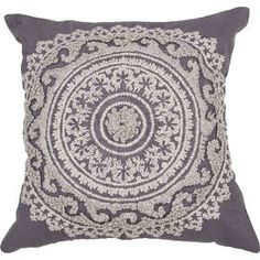Fallon Pillow in Dark Grey