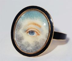 """Lover's Eyes  """"In the 18th and 19th centuries, wealthy British and European lovers exchanged 'eye miniatures' — love tokens so clandestine that even now, in the majority of cases, it is impossible to identify their recipients or the people they depict. Experts believe that there are fewer than 1,000 'lover's eyes' in existence today."""""""